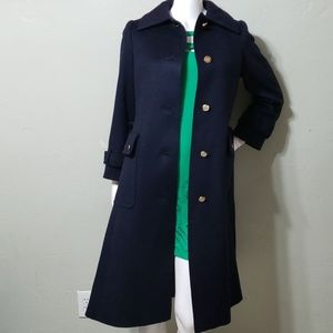 AQUASCUTUM vintage navy wool blend coat